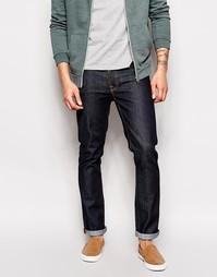 Темно-синие зауженные джинсы Nudie Jeans Grim Tim - Синий