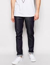 Узкие джинсы из органического серого сухого денима Nudie Jeans Thin Finn - Синий