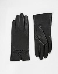 Кожаные перчатки со стегаными манжетами Totes - Черный