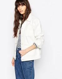 Прямая джинсовая куртка Bethnals Alfie - Белый