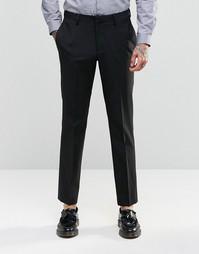 Черные брюки слим ASOS - Черный