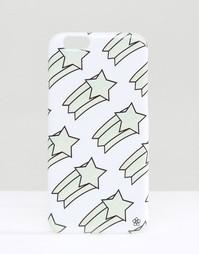 Чехол для iPhone 6 с принтом падающей звезды Daisy Street - Белый