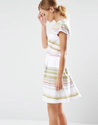 Короткое приталенное платье в полоску Ted Baker Aquai - Мульти