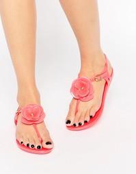 Сандалии с Т-образным ремешком и цветами Mel By Melissa - Розовый