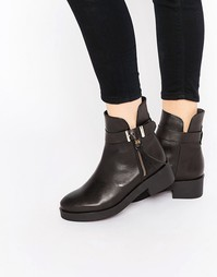Ботинки с пряжкой на плоской подошве Bronx - Черный Miista