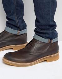 Кожаные ботинки чукка Base London Rufus - Коричневый