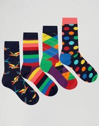 Подарочный набор из 4 пар носков HappySocks - Мульти