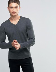 Джемпер с V-образным вырезом Esprit - Серый