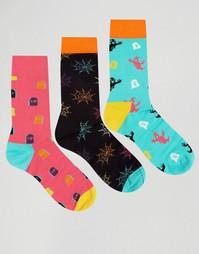 Подарочный набор для Хэллоуина из 3 пар носков Happy Socks - Мульти
