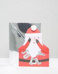 Рождественская открытка Meri Meri Jolly Santa - Мульти