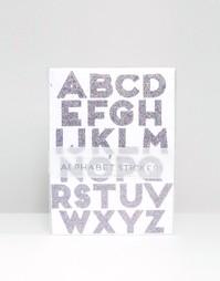 Большие стикеры в виде букв алфавита с блестками Meri Meri - Мульти