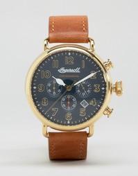 Часы со светло‑коричневым кожаным ремешком Ingersoll Trenton - Рыжий
