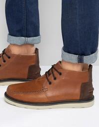 Кожаные ботинки чукка Toms - Коричневый
