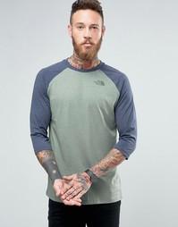 Эксклюзивная футболка с рукавами реглан 3/4 The North Face - Зеленый