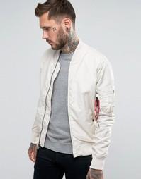 Белая куртка‑пилот узкого кроя Alpha Industries MA‑1 - Кремовый