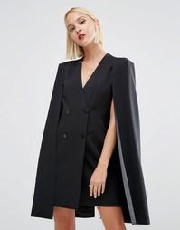 Платье-накидка с разрезом сзади Lavish Alice - Черный