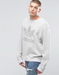 Серый свитшот с круглым вырезом adidas Originals Noize AY9278 - Серый