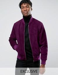 Замшевая куртка-пилот Reclaimed Vintage - Фиолетовый