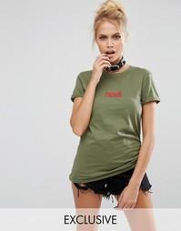 Футболка Adolescent Clothing Halloween Cursed - Зеленый