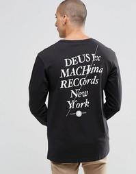 Лонгслив с принтом сзади Deus Ex Machina - Черный