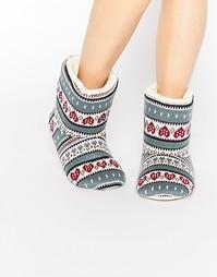 Ботинки-слиперы с узором Фэйр-Айл в форме сердечек Totes - Мульти