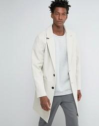 Светло-бежевое пальто‑кокон из смешанной шерсти ASOS - Бежевый
