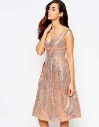 Платье миди для выпускного Lashes Of London - Золотой
