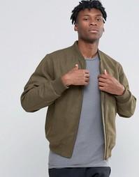 Полушерстяная куртка-пилот D-Struct - Зеленый