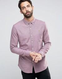 Фактурная рубашка слим Farah - Красный