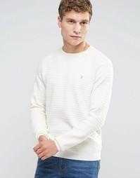Белый джемпер слим в фактурную полоску Farah - Белый