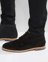 Замшевые ботинки чукка Hudson London Houghton - Черный
