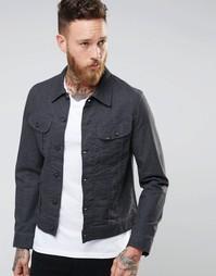 Серая джинсовая куртка слим Lee Rider Atom - Серый