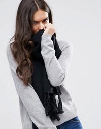Вязаный шарф Alice Hannah - Черный