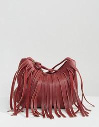 Сумка через плечо с бахромой Yoki Fashion - Красный
