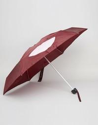 Зонт с принтом губ Lulu Guinness - Красный