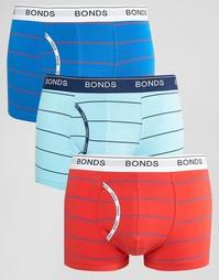 Комплект из 3 боксеров-брифов в полоску Bonds - Мульти
