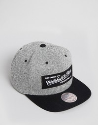 Бейсболка Mitchell & Ness - Серый