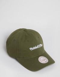 Бейсболка с регулируемой застежкой Mitchell & Ness - Зеленый