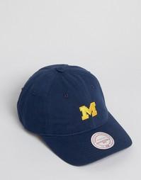 Бейсболка с регулируемым ремешком Mitchell & Ness Michigan - Темно-синий