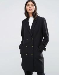 Двубортное пальто Y.A.S - Черный