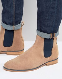 Замшевые ботинки челси Bobbies LHorloger - Бежевый