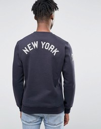 Свитшот с рукавами реглан и принтом на спине New Era Yankees - Темно-синий