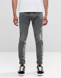 Серовато-зеленые узкие джинсы Replay Anbass - Зеленый