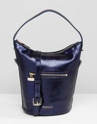 Кожаная сумка-хобо Modalu - Темно-синий
