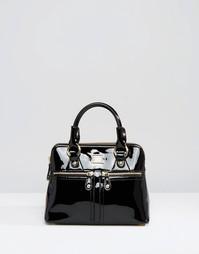 Небольшая кожаная сумка с короткими ручками Modalu Pippa - Черный