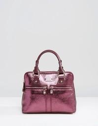 Небольшая кожаная сумка с короткими ручками Modalu Pippa - Красный