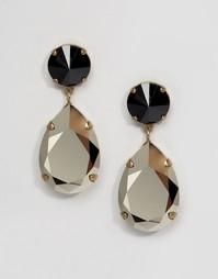 Серьги с кристаллами Swarovski Krystal Angelina - Золотой