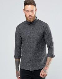 Крапчатая рубашка с начесом Only & Sons - Серый