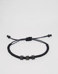 Черный плетеный браслет Mister Bae - Черный