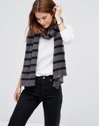 Полосатый шарф Hat Attack - Серый